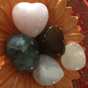 Crystal gemstone hearts - puffy